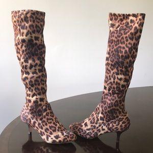 Leopard Print Elasticized  Donald J Pliner boots